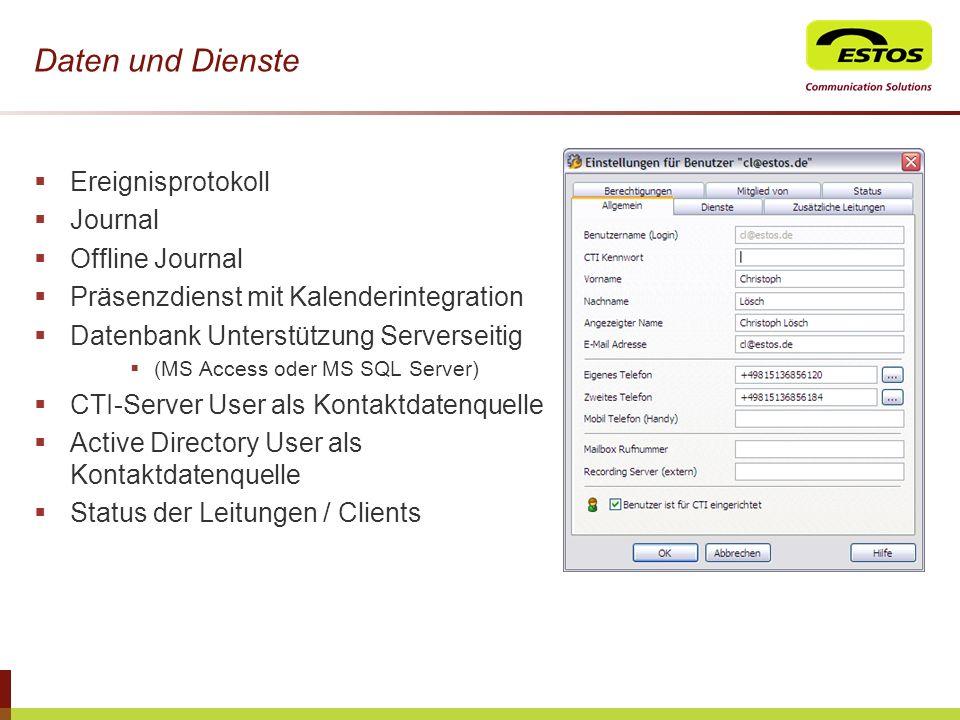 Daten und Dienste Ereignisprotokoll Journal Offline Journal