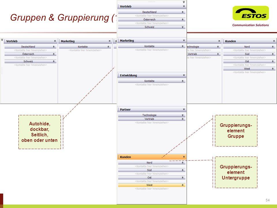 Gruppen & Gruppierung (1