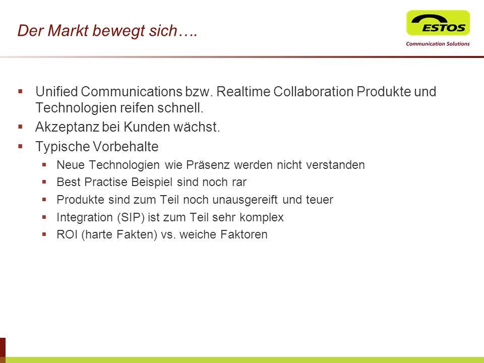 Der Markt bewegt sich…. Unified Communications bzw. Realtime Collaboration Produkte und Technologien reifen schnell.