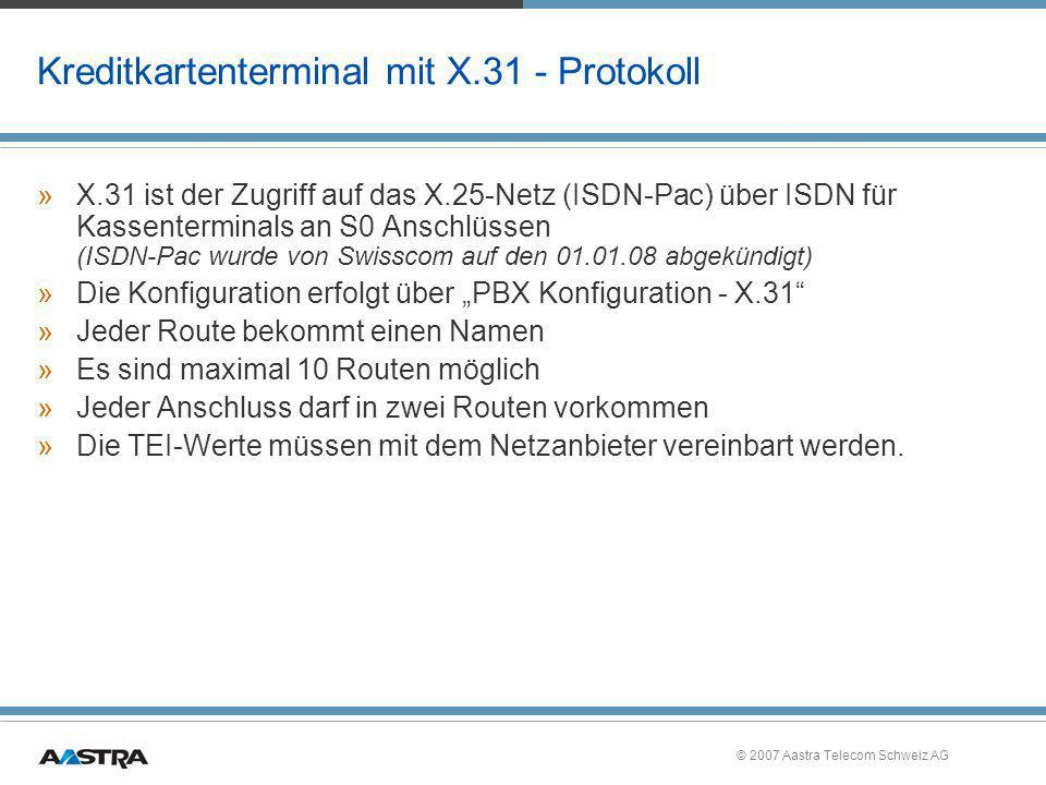 Kreditkartenterminal mit X.31 - Protokoll