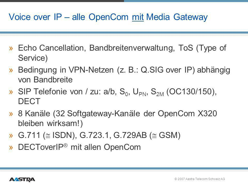 Voice over IP – alle OpenCom mit Media Gateway