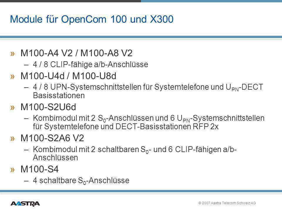 Module für OpenCom 100 und X300