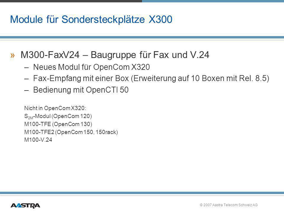 Module für Sondersteckplätze X300