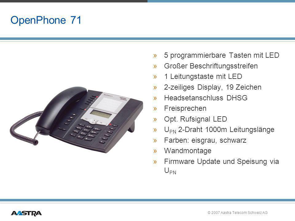 OpenPhone 71 5 programmierbare Tasten mit LED