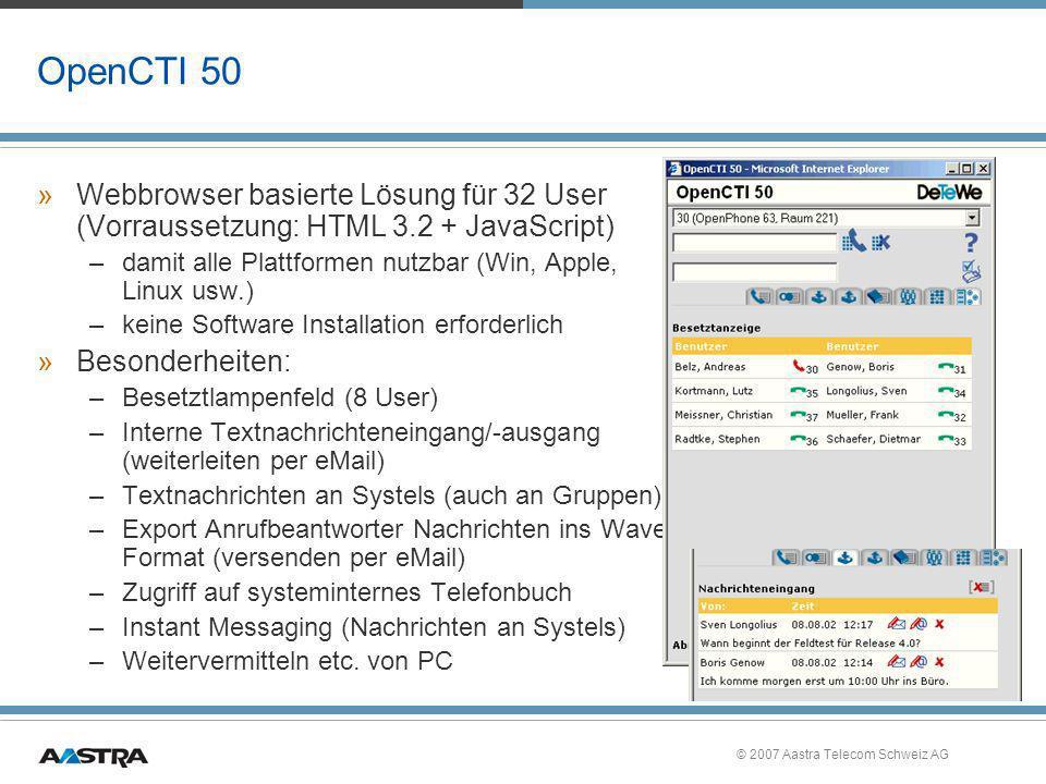 OpenCTI 50 Webbrowser basierte Lösung für 32 User (Vorraussetzung: HTML 3.2 + JavaScript) damit alle Plattformen nutzbar (Win, Apple, Linux usw.)