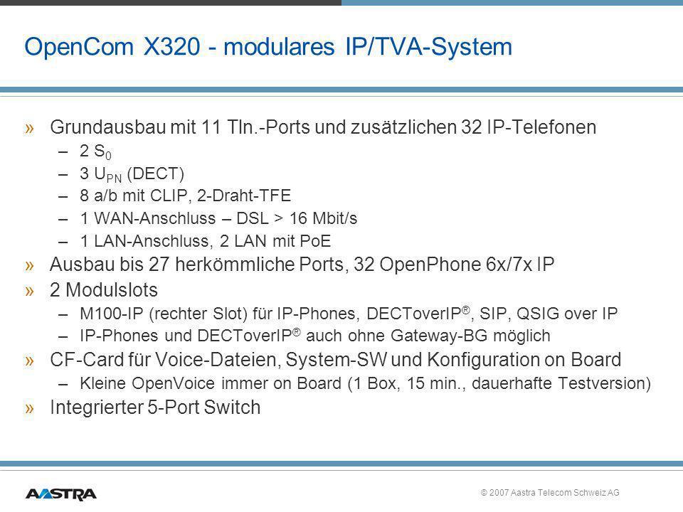 OpenCom X320 - modulares IP/TVA-System