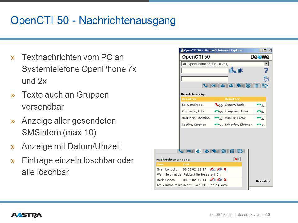 OpenCTI 50 - Nachrichtenausgang
