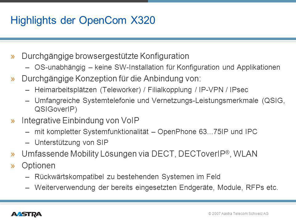 Highlights der OpenCom X320