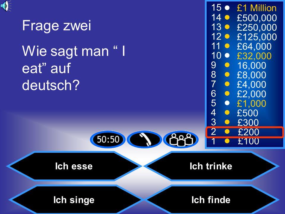 Wie sagt man I eat auf deutsch