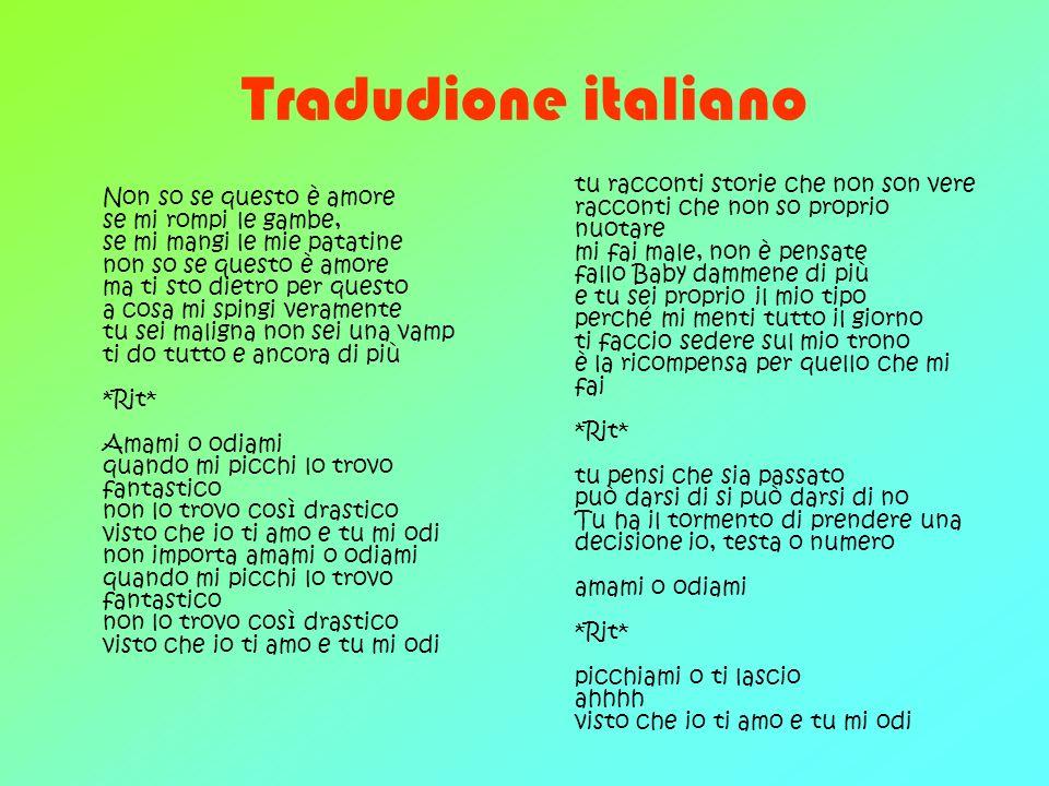 Tradudione italiano
