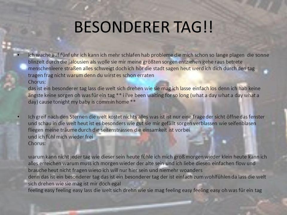BESONDERER TAG!!