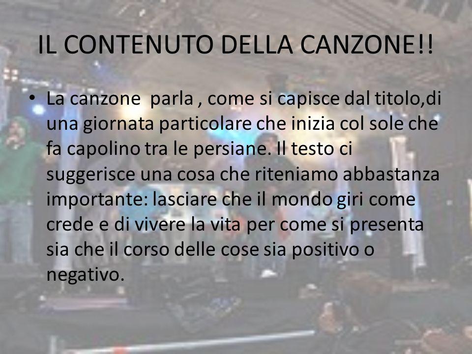 IL CONTENUTO DELLA CANZONE!!