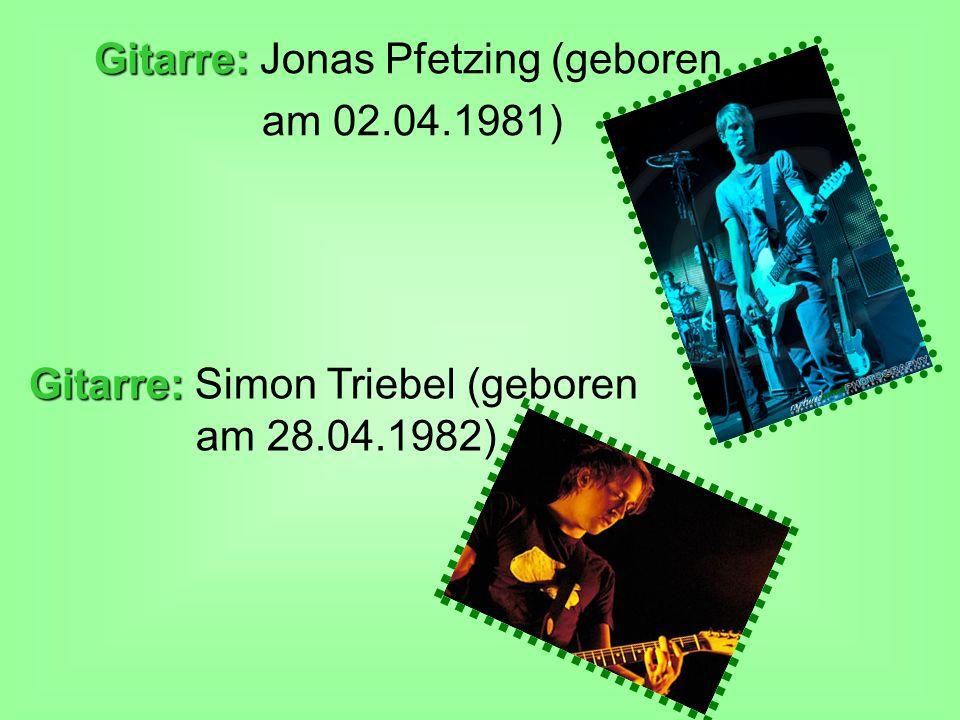 Gitarre: Jonas Pfetzing (geboren