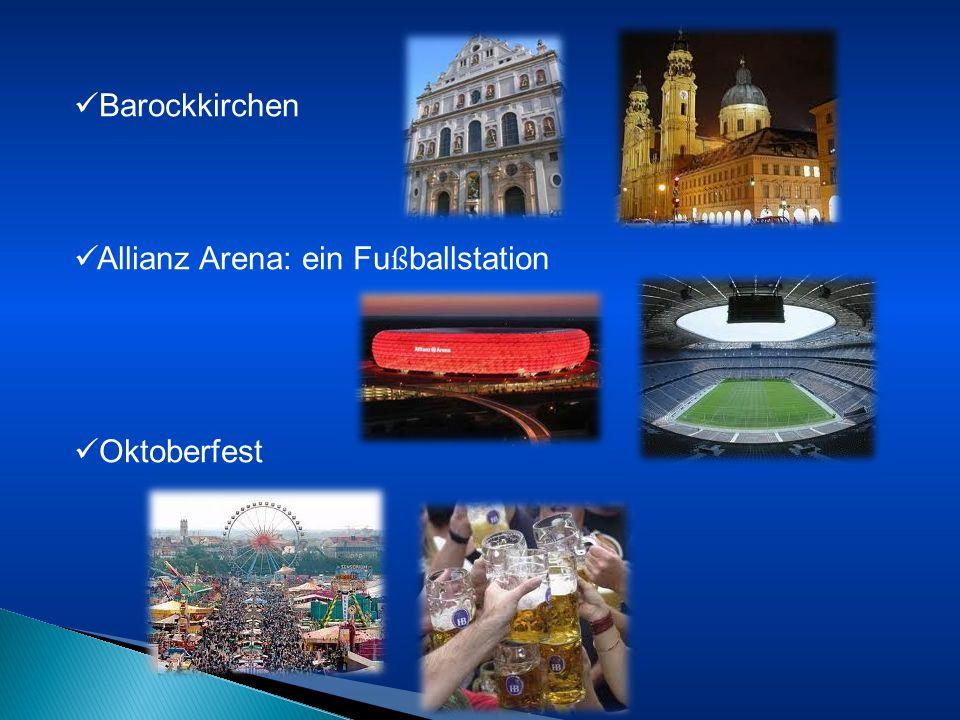 Barockkirchen Allianz Arena: ein Fußballstation Oktoberfest