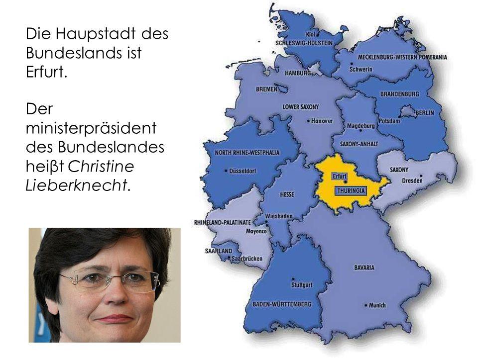 Die Haupstadt des Bundeslands ist Erfurt.