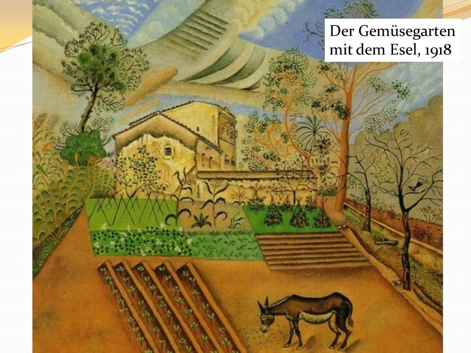 Der Gemüsegarten mit dem Esel, 1918