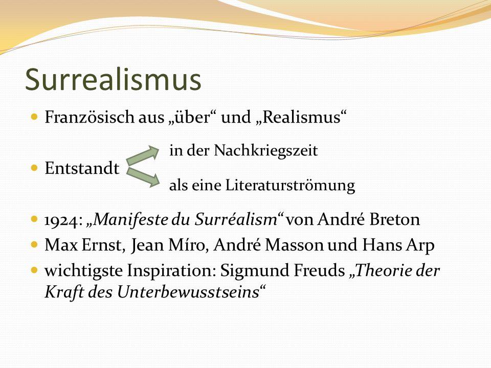 """Surrealismus Französisch aus """"über und """"Realismus Entstandt"""