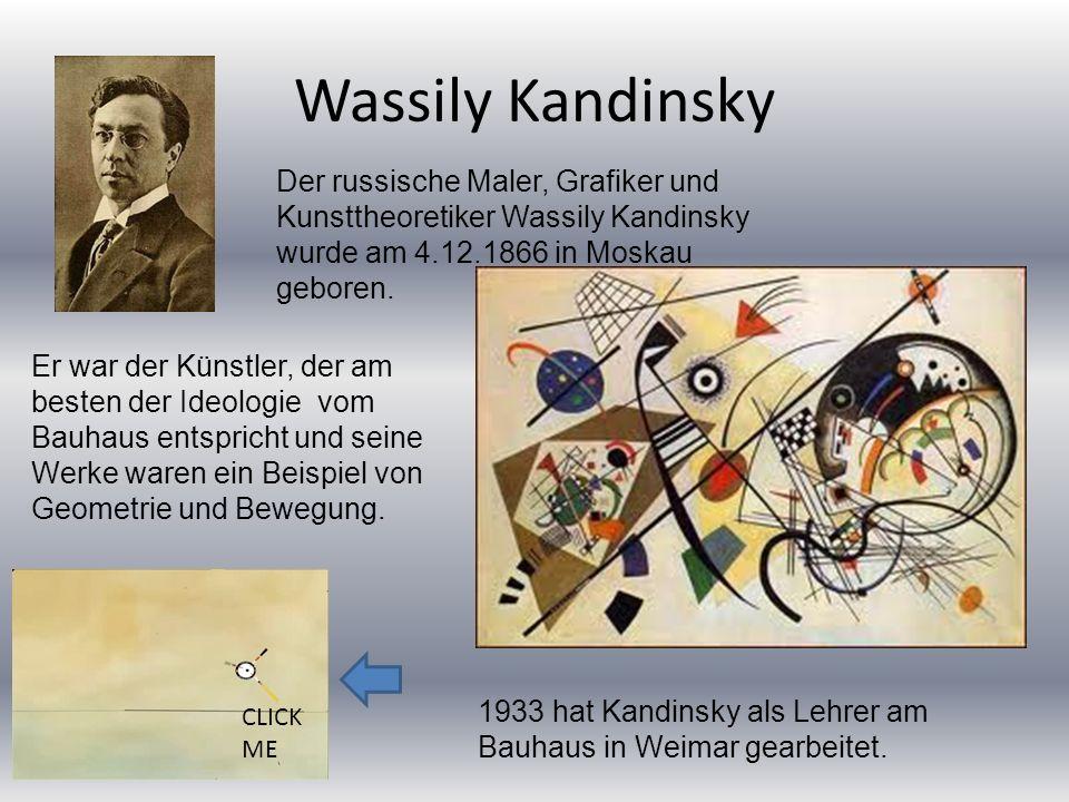 Wassily KandinskyDer russische Maler, Grafiker und Kunsttheoretiker Wassily Kandinsky wurde am 4.12.1866 in Moskau geboren.