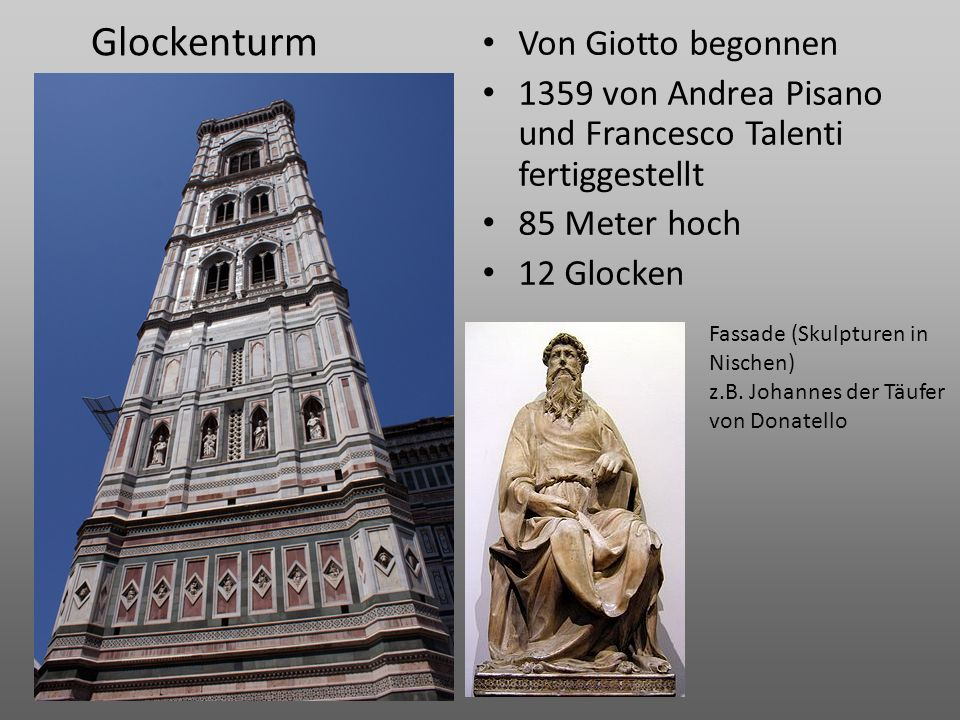 Glockenturm Von Giotto begonnen