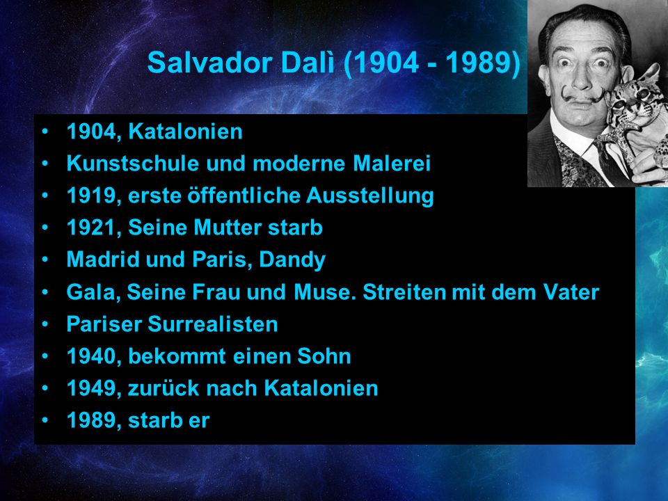 Salvador Dalì (1904 - 1989) 1904, Katalonien