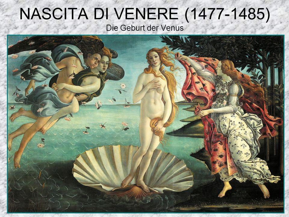 NASCITA DI VENERE (1477-1485) Die Geburt der Venus