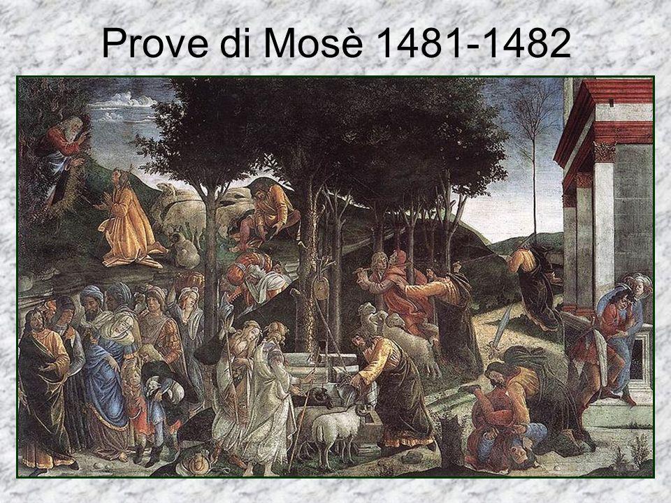 Prove di Mosè 1481-1482