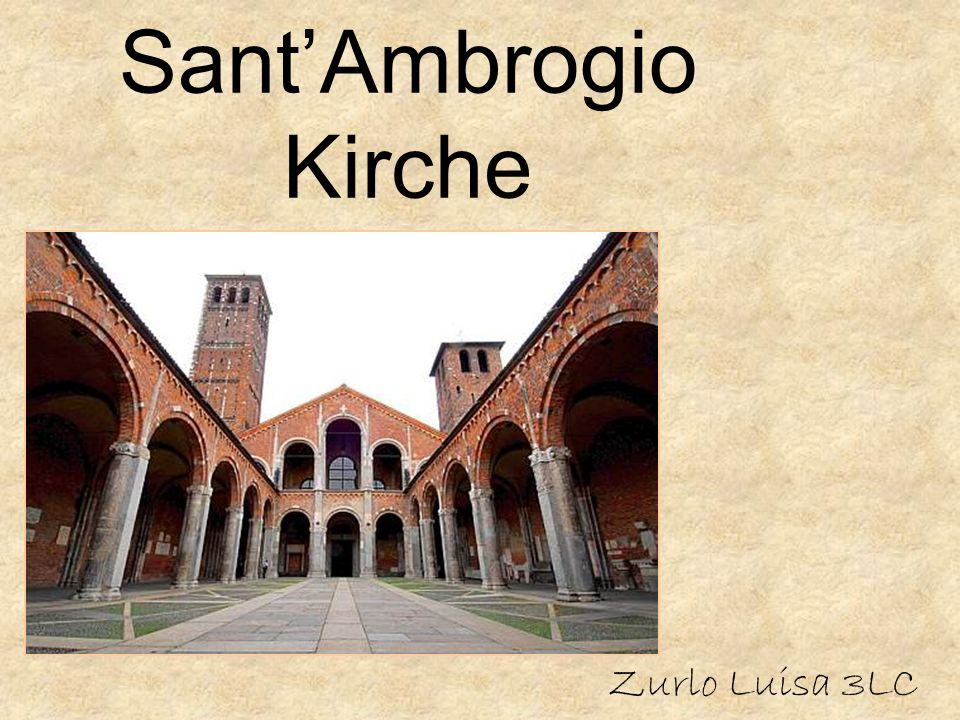 Sant'Ambrogio Kirche Zurlo Luisa 3LC