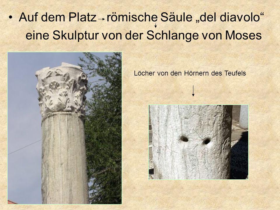 "Auf dem Platz römische Säule ""del diavolo"