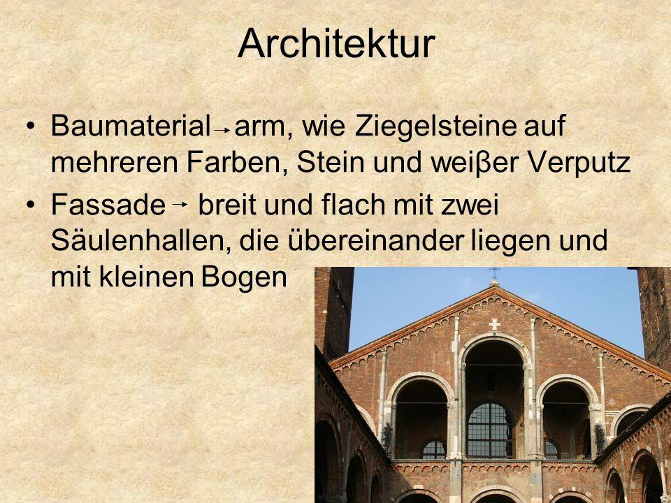 Architektur Baumaterial arm, wie Ziegelsteine auf mehreren Farben, Stein und weiβer Verputz.