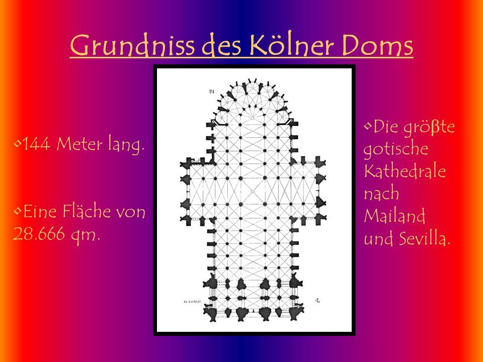 Grundniss des Kölner Doms