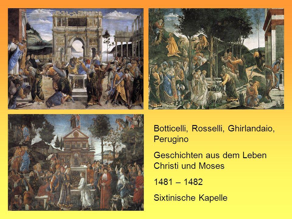 Botticelli, Rosselli, Ghirlandaio, Perugino