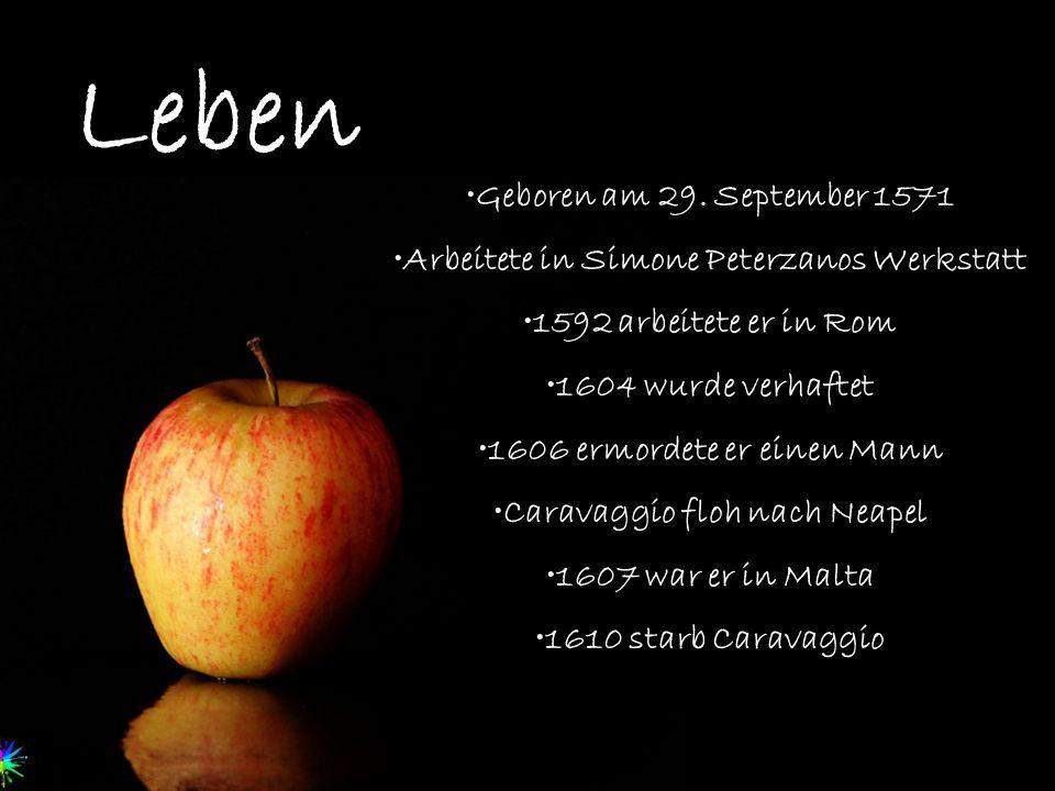Leben Geboren am 29. September 1571