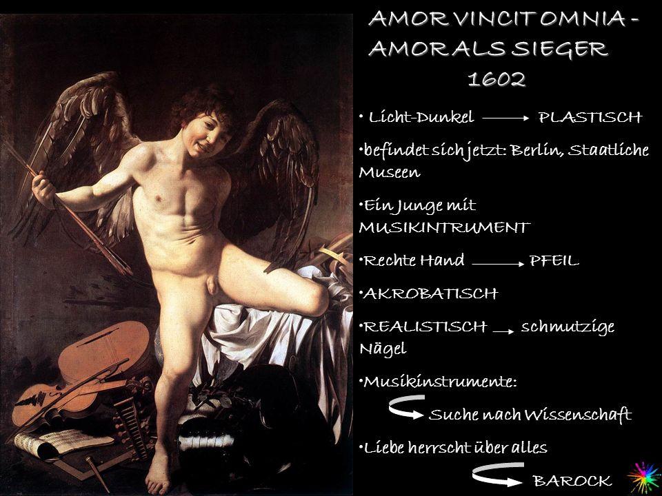 AMOR VINCIT OMNIA - AMOR ALS SIEGER