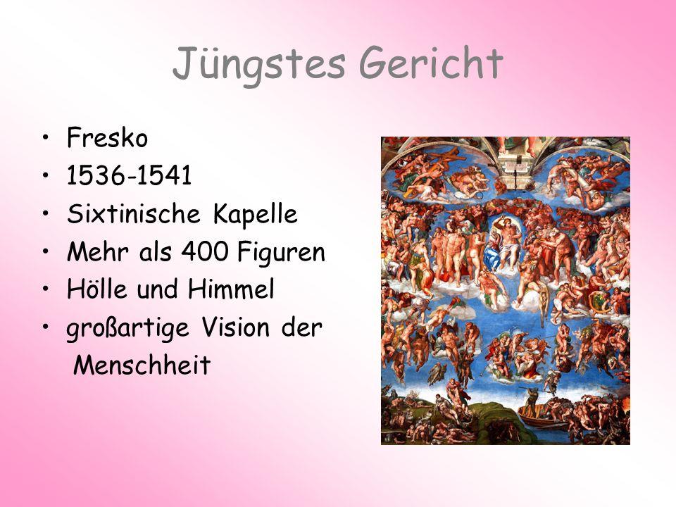 Jüngstes Gericht Fresko 1536-1541 Sixtinische Kapelle