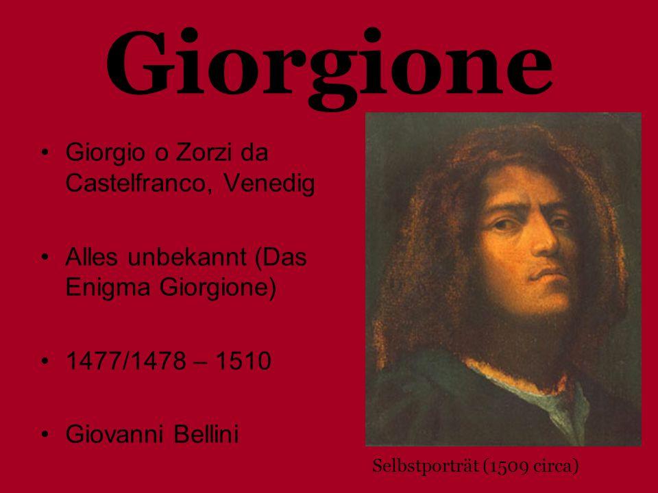 Giorgione Giorgio o Zorzi da Castelfranco, Venedig