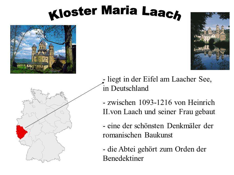 Kloster Maria Laach liegt in der Eifel am Laacher See, in Deutschland