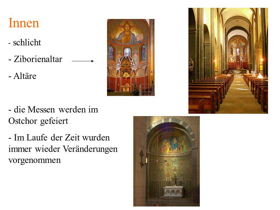 Innen Ziborienaltar Altäre die Messen werden im Ostchor gefeiert