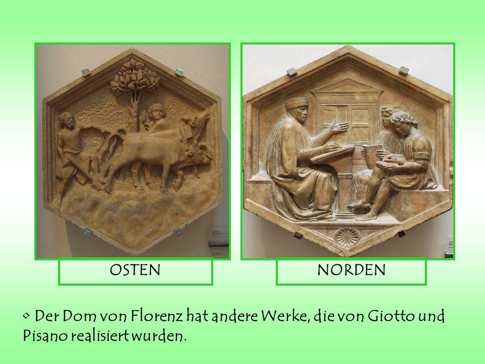 OSTEN NORDEN Der Dom von Florenz hat andere Werke, die von Giotto und Pisano realisiert wurden.