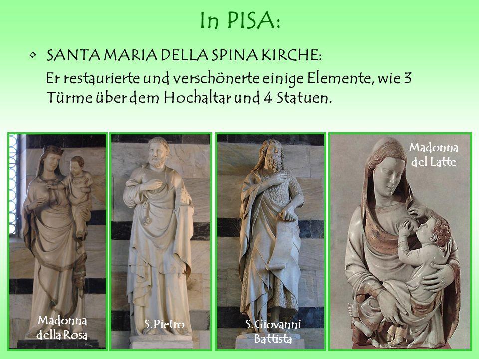 In PISA: SANTA MARIA DELLA SPINA KIRCHE:
