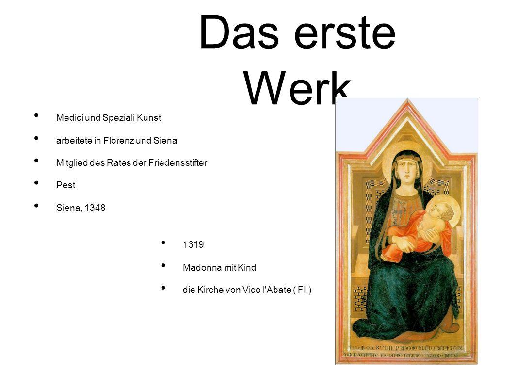 Das erste Werk Medici und Speziali Kunst