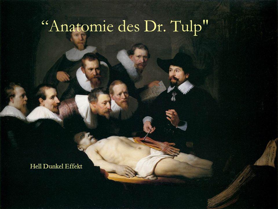 Anatomie des Dr. Tulp Hell Dunkel Effekt