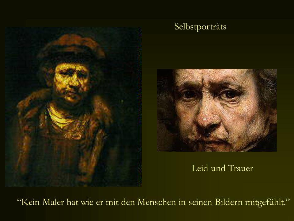 Selbstporträts Leid und Trauer.
