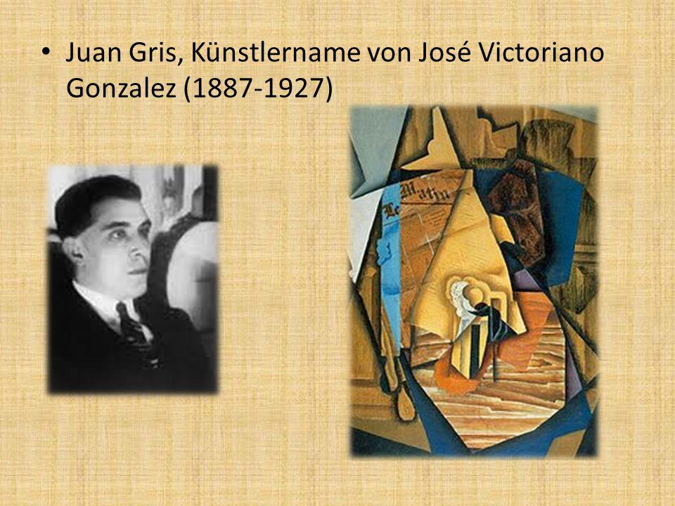 Juan Gris, Künstlername von José Victoriano Gonzalez (1887-1927)