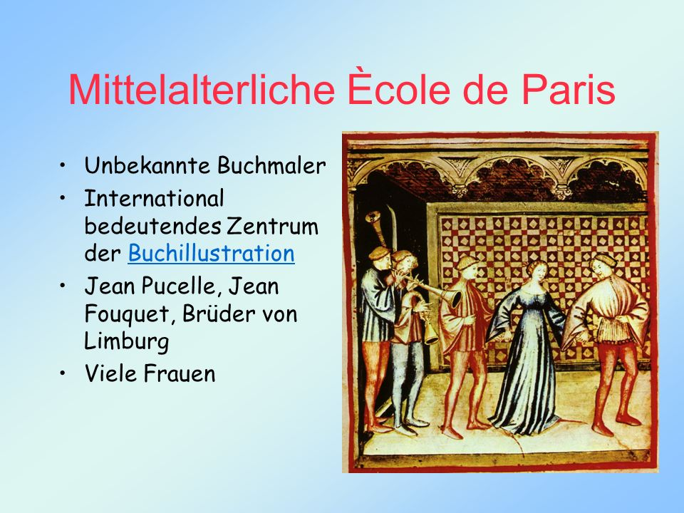 Mittelalterliche Ècole de Paris