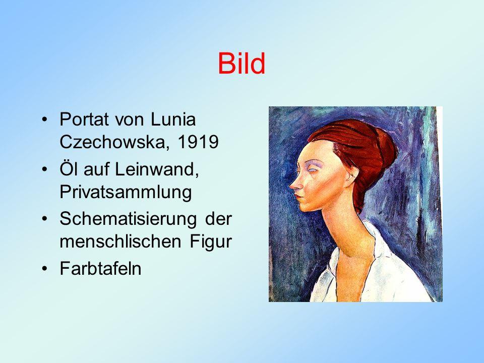 Bild Portat von Lunia Czechowska, 1919 Öl auf Leinwand, Privatsammlung