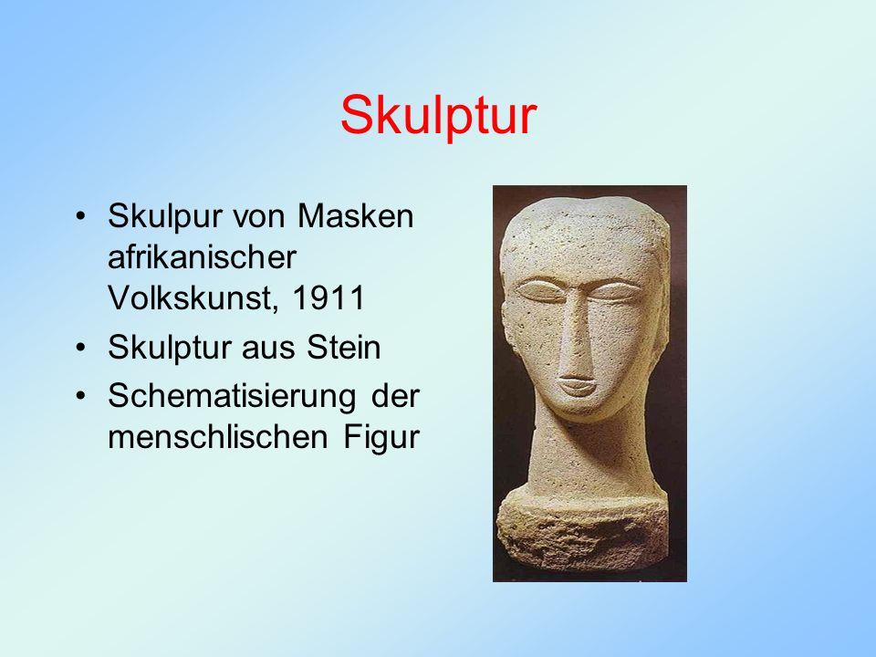 Skulptur Skulpur von Masken afrikanischer Volkskunst, 1911