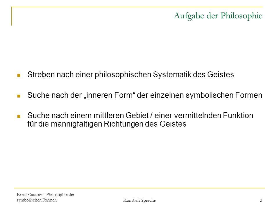 Aufgabe der Philosophie