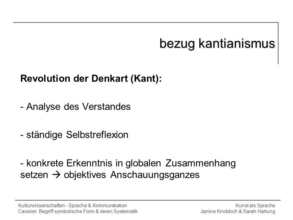 bezug kantianismus Revolution der Denkart (Kant):