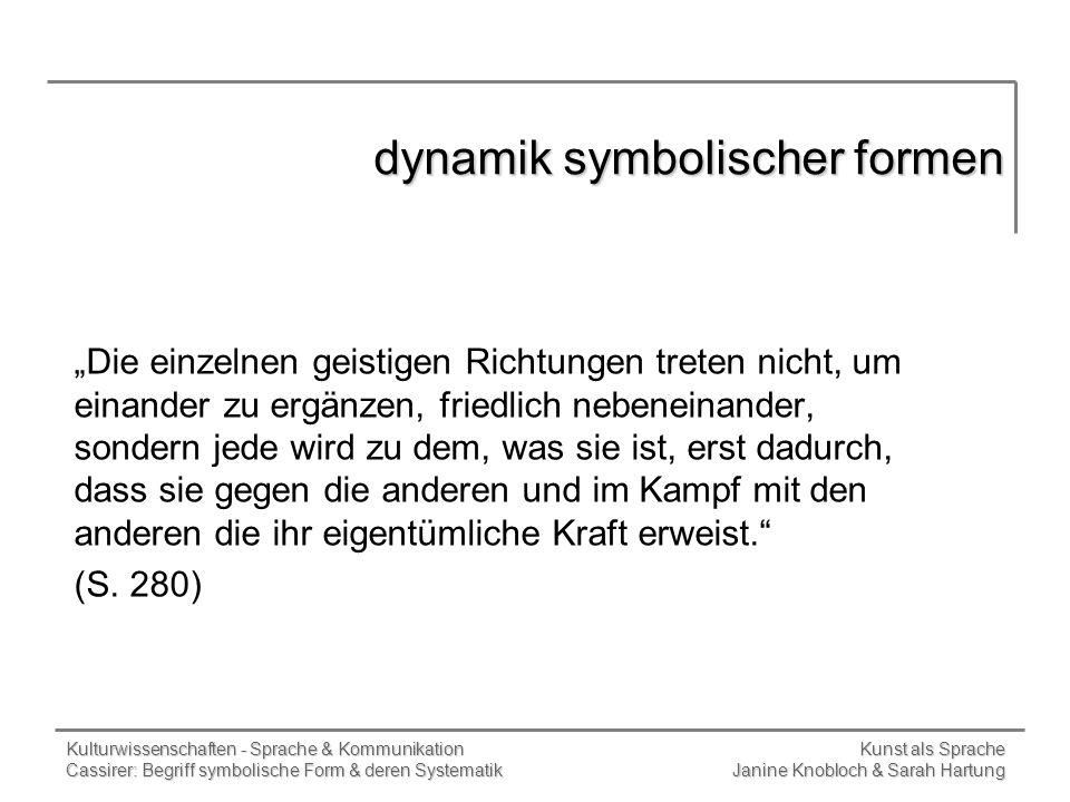 dynamik symbolischer formen