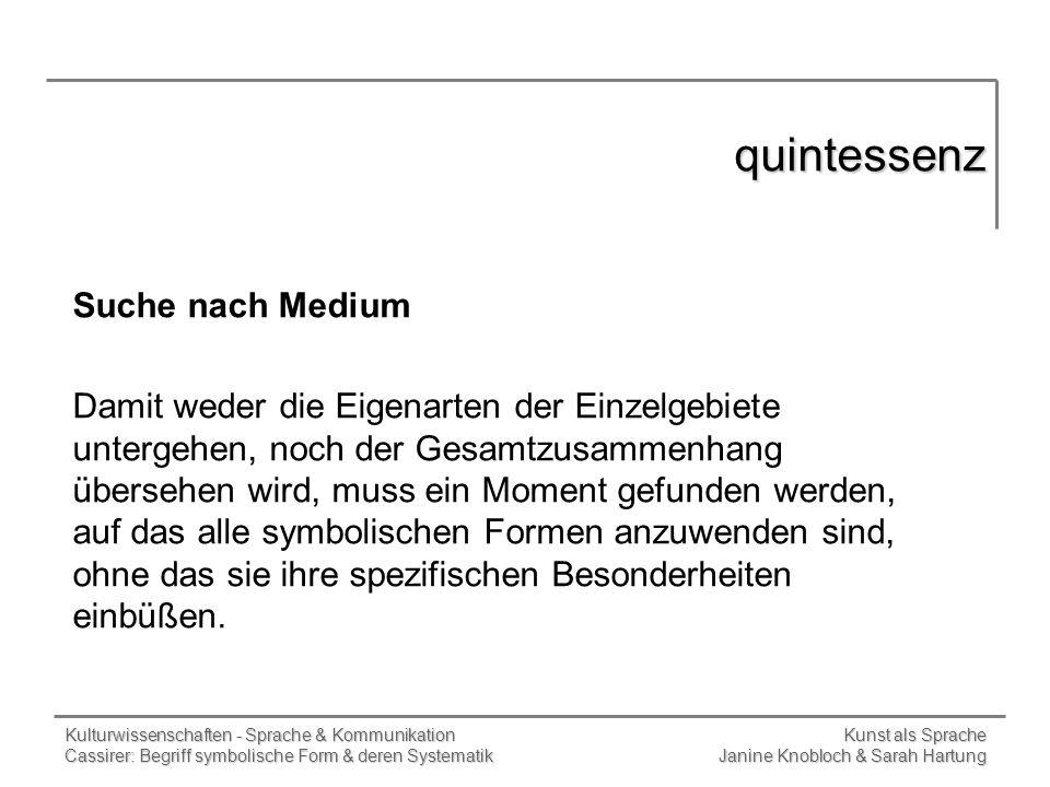 quintessenz Suche nach Medium